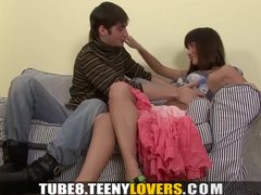 Preview 3 of Teeny Lovers - With Cock In Her Pussy