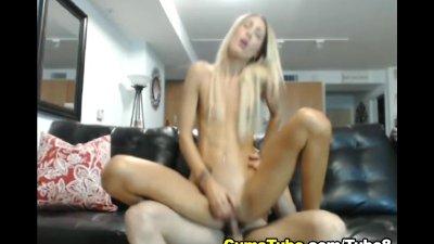 Hot Blonde Gets Covered in Cum