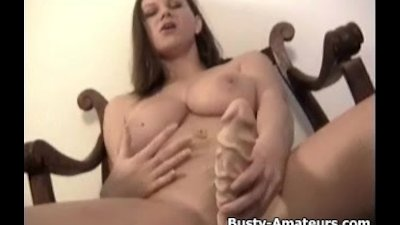 Busty Sara Stone Jerks Off