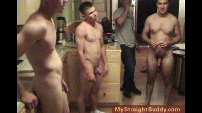 Straight Marine Buddies Wrestling