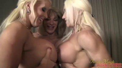 Wild Women Threesome- Ashlee Chambers, Wild Kat, Amazon Alura 1 of 3
