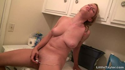Cute Blonde Chick Gets Kinky In The Basement