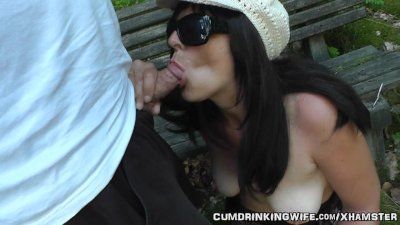 Dogging wife fucked in the park