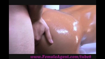 FemaleAgent. Agent gets oiled