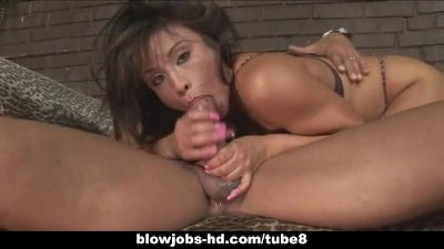 Asian babe deep throats huge cock in stunning blow job scene