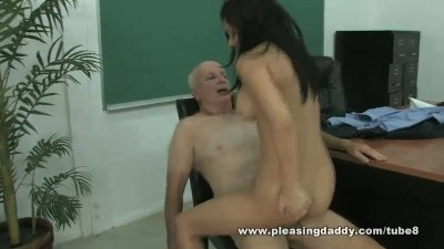 Horny Old Teacher Fucks Young