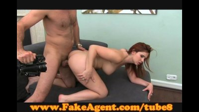 FakeAgent Fire kissed amateur
