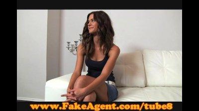 FakeAgent Shy brunette... video
