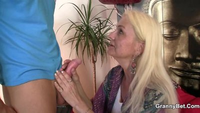 Cock hungry granny rides my stiff meat