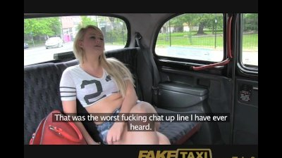 FakeTaxi Cock hungry young blonde in taxi anal