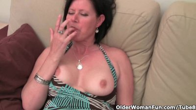 Mature woman with big tits and