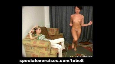 Discipline training for hot brunette babe