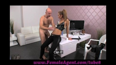FemaleAgent. Casting creampie for teasing agent
