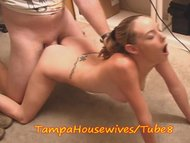 Tiny teen Housewife fucks co-worker in office
