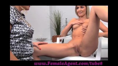 FemaleAgent. Assistant cameraman gets in on the action