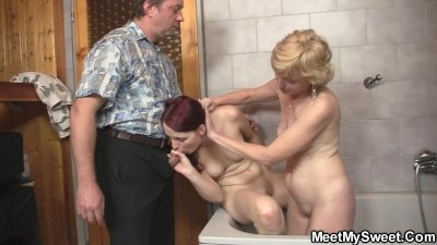 Naughty time with son's GF