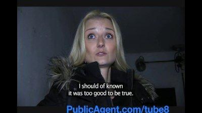 PublicAgent Sexy blonde fucks