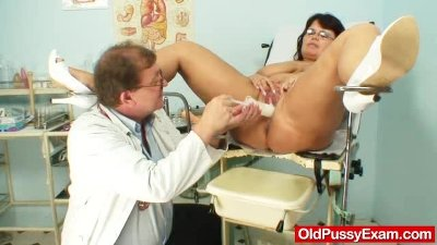 Melon size tits at gyno physician clinic