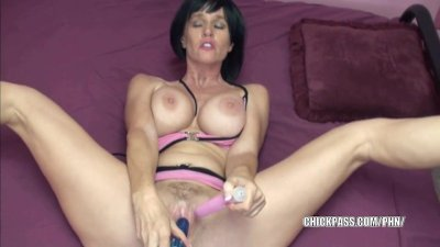 Horny MILF Melissa Swallows is fucking her twat with toys