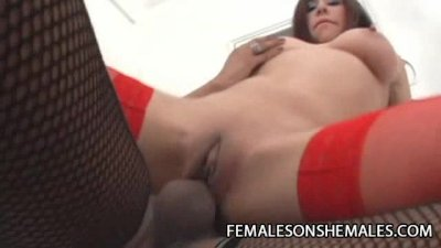 Loly And Lola - Shemale Fucks A Girl