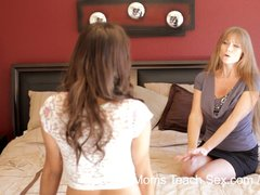 Preview 2 of Moms Teach Sex - Mom Teaches Stepdaughter Some New Tricks