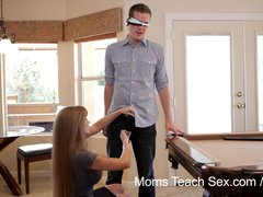 Preview 3 of Moms Teach Sex - Mom Teaches Stepdaughter Some New Tricks