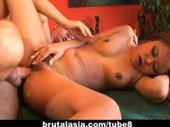 Asian bondage babe Annie Cruz fucked in all holes