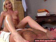 Kathia Nobili teasing with her feet