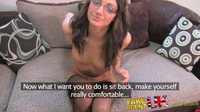 FakeAgentUK Perfect british brunette gets deep creampie on valentines day