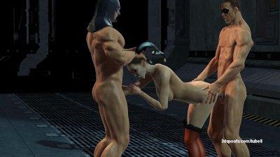 Batman and Robin Gangbang Harl