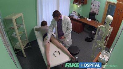 Fake Hospital Innocent redhead gets a creampie prescription