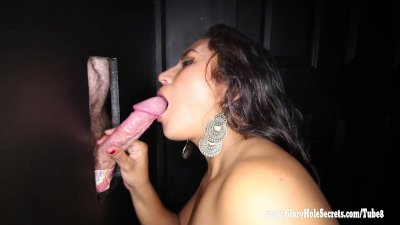 Busty MILF Angel fucks her Latina pussy with a dildo
