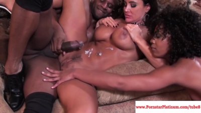 Lisa Ann and Misty Stone love a threeway