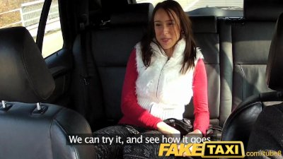 FakeTaxi Brunette enjoys a big