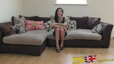 FakeAgentUK Second fake interview for sexy tattooed brit chick