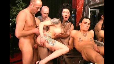 Cock piercing and group fucking
