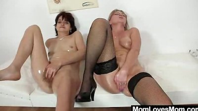 Eager ladies shag with strap on