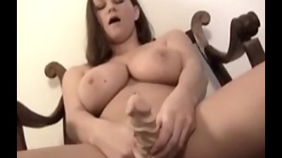 Busty amateur Sarah playing he