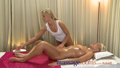 Massage Rooms Petite Lola has her young hole filled with fingers and cock