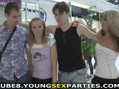 Young Sex Parties - Double date followed by a sex party
