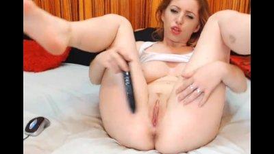 HOT Redhead Masturbating her Tight Pussy