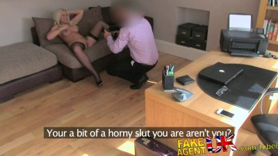 FakeAgentUK Creampie for sexy blonde who mistakenly goes to sex casting
