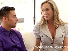 Moms Teach Sex - Mom licks jizz from stepdaughters twat