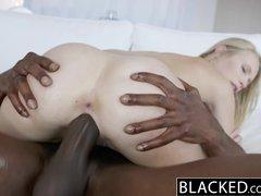 BLACKED Dakota James First Experience with Big Black Cock