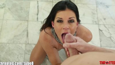 Throated Young Mature MILF's EXTREME GAGGING!