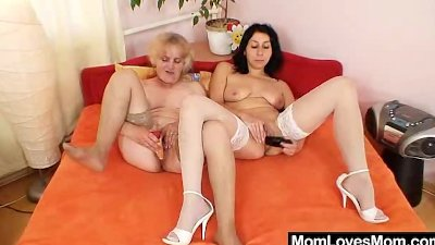 Orgastic amateur milf toys lousy hairy gramma