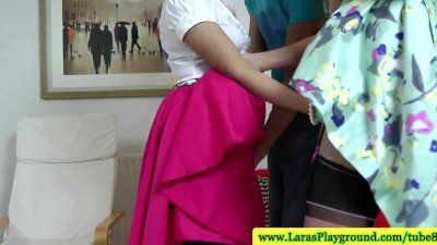 Classy english matures sucking cock after lesbian play