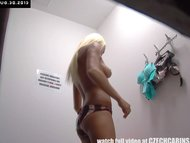 Czech Blonde Chick Tries Out Underwear