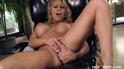 Buxom Blonde Loves Ass Play
