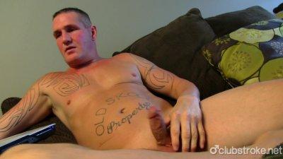 Tattooed Straight Guy Maverick Masturbating